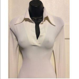 Simona Vignoli Dresses - Simona Vignoli Vintage Jersey Collar Dress